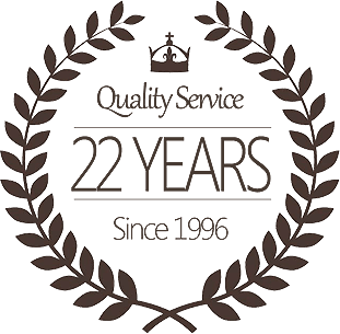 22years quality service pin