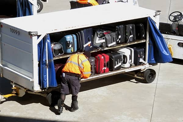 Load flight baggage