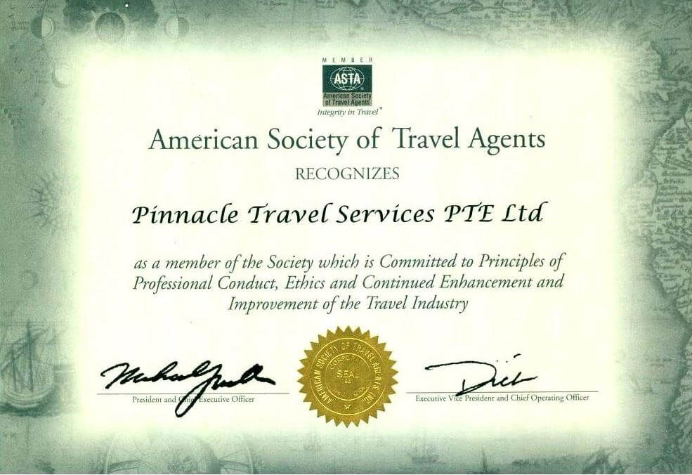 Pinnacle Travel Singapore SME500 Award