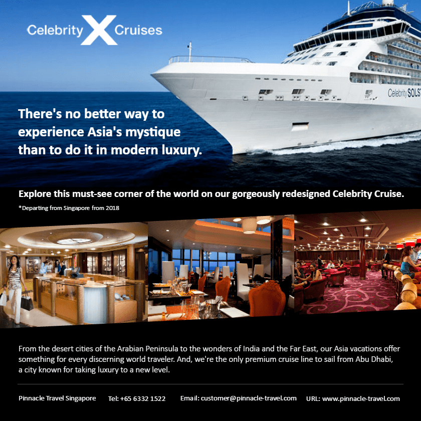 celebrity cruise holiday vacation oversesa travel trip from singapore packages