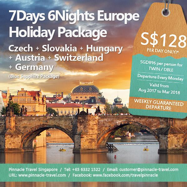 7 Days 6 Nights Czech Slovakia Hungary Austria Switzerland Germany tour europe holiday package from Singapore