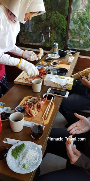 Ama divers serve Japan authentic lunch
