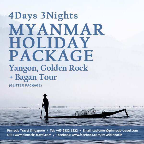 4 days 3 nights yangon golden rock bago myanmar holiday tour package from singapore