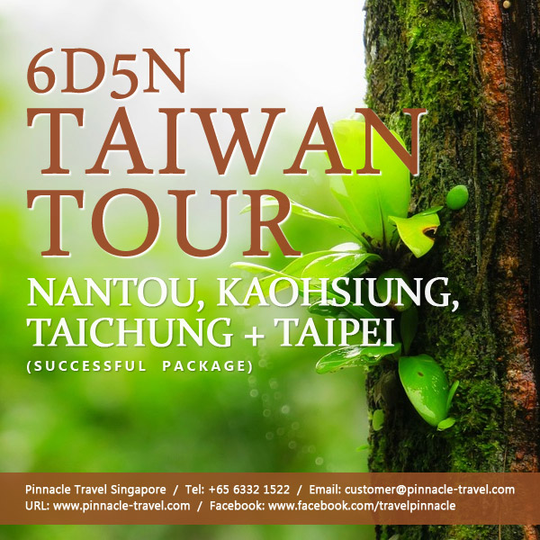 6 Days 5 Nights Nantou Kaohsiung Taichung Taipei Taiwan Holiday Tour Packages From Singapore