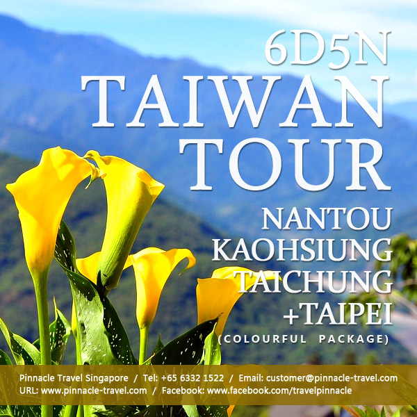 7 Days 6 Nights Nantou Kaohsiung Taichung tour taiwan holiday package from singapore