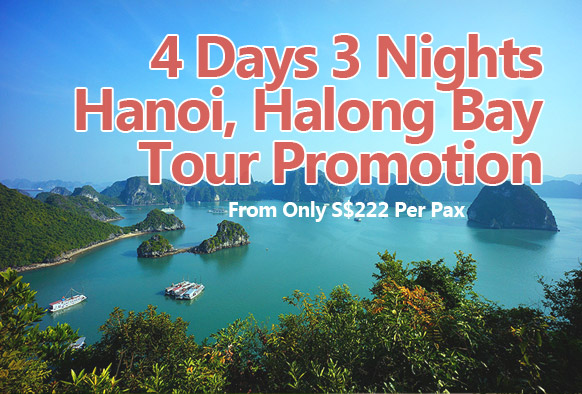 4 Days 3 Nights Hanoi + Halong Bay Tour Promotion Holiday Package